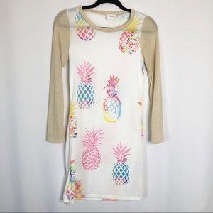 New Fantastic Fawn Pineapple Dress Summer Medium